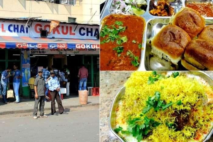 Pav bhaji and bhel puri - specialities of Gokul Chaat