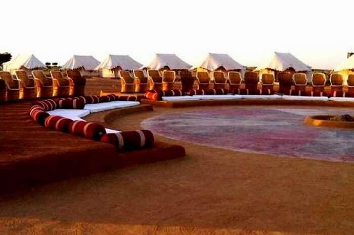 The huge activity area of Desert Safari Camp