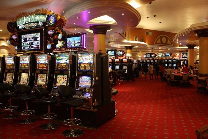 A snap shot of the interiors of a casino in Poipet