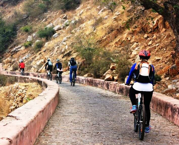 Cycling at Nahargarh fort