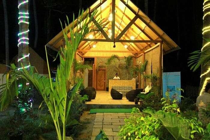 The reception of the Havelock Island Beach Resort
