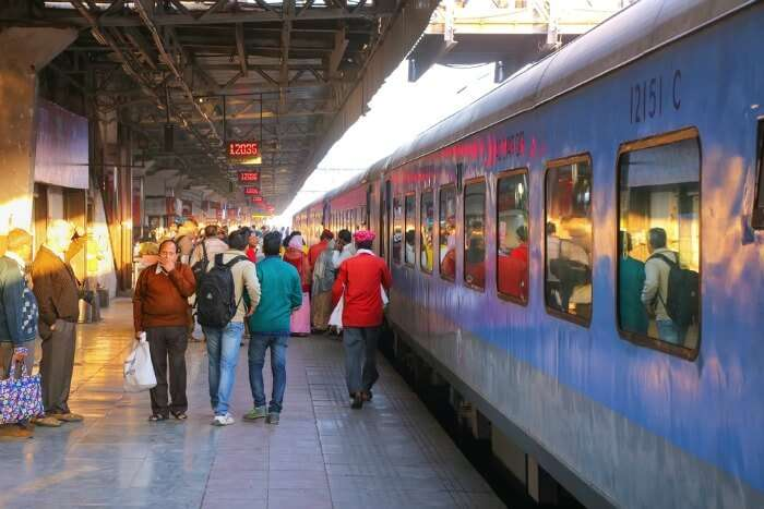 Passengers at Jaipur Junction Railway Station