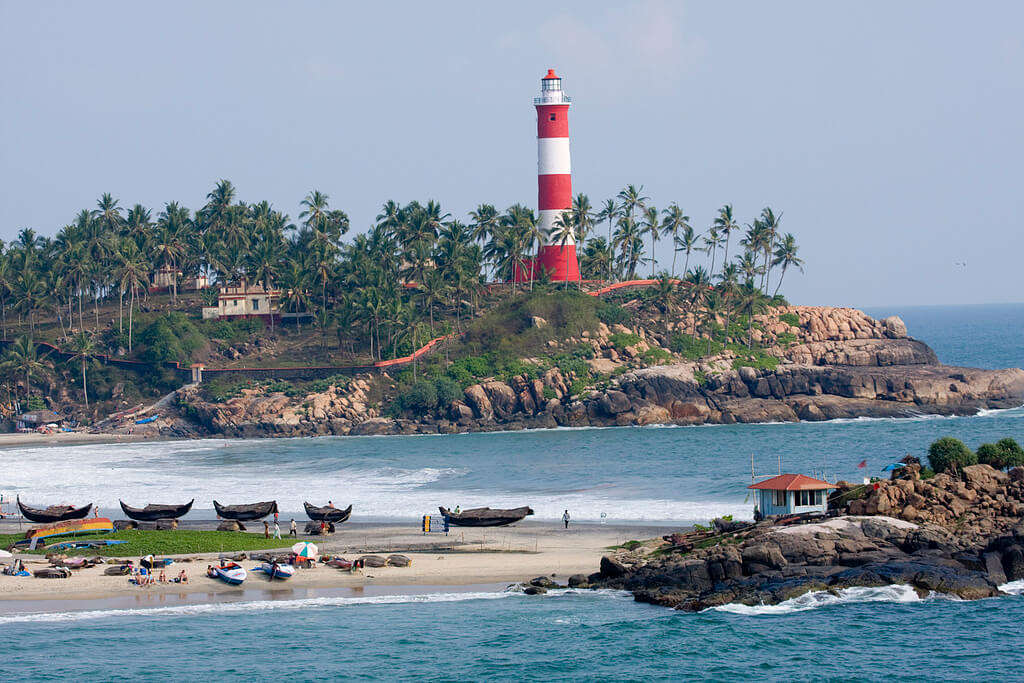 lighthouse on the beach of Kovalam