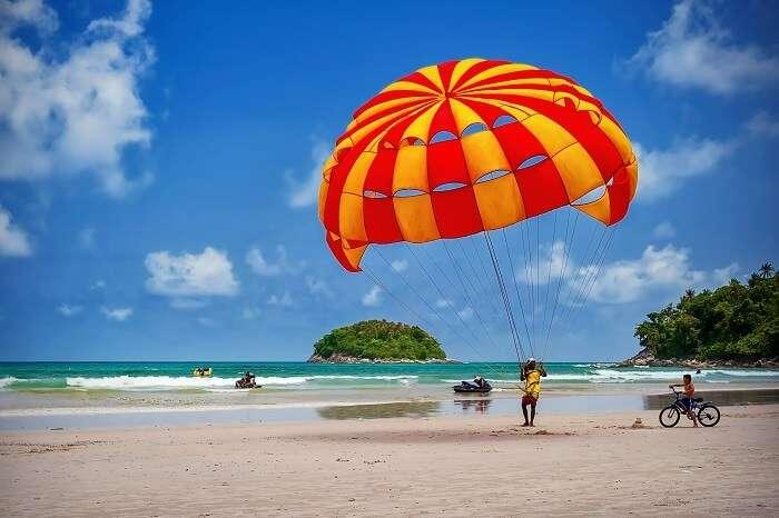 Various watersports available at the beach near Cidade De Goa