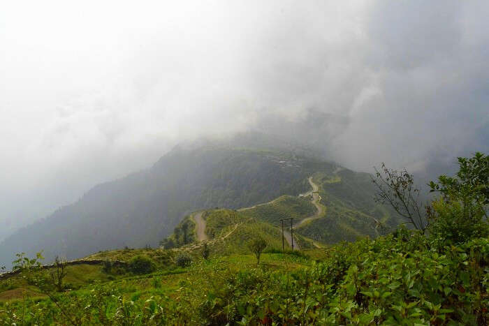 View of the hills from Chakrata