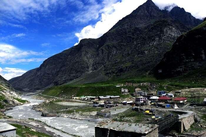 Koksar village as seen from the highway