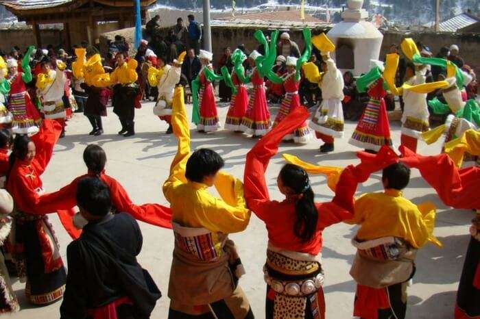 People of Ladakh celebrating Losar together