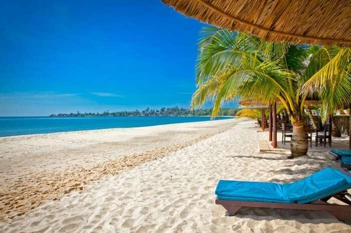 The lovely tropical Sokha beach in Cambodia