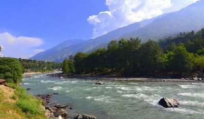 scenic view of mountains and rivers