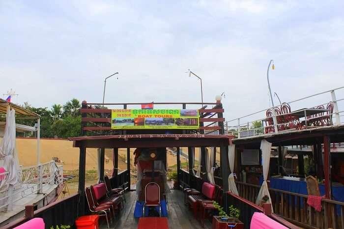 Boat ride experience in Cambodia