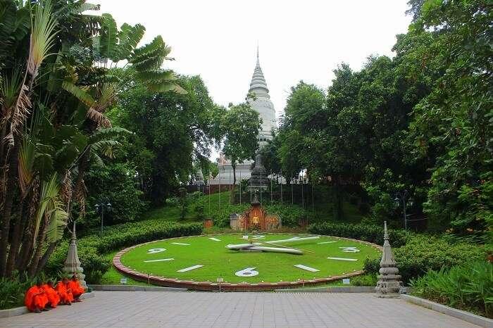 Beautiful gardens in Cambodia