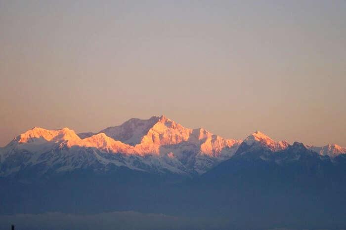 view of mount khangchendzonga