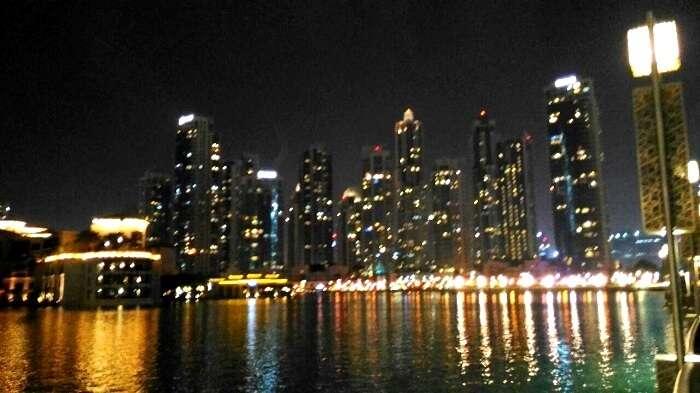 Fantastic dubai skyline at night