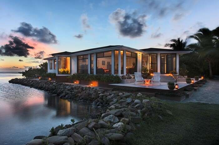 One of the villas at the Royal Belize private island