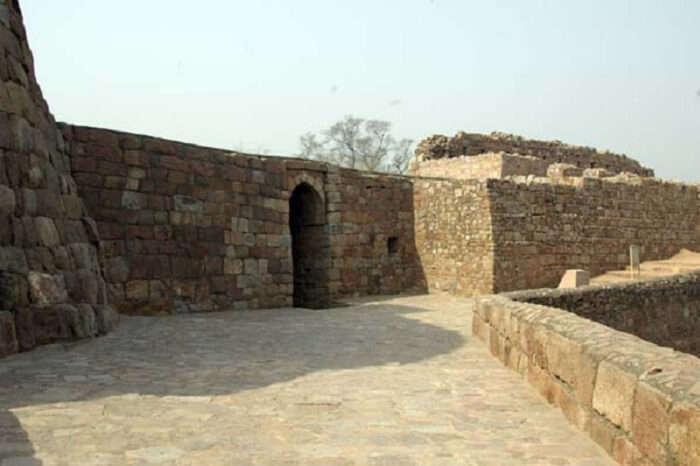 Tomb of Mohammed Tughlaqabadshah at Badarpur Zail in Delhi