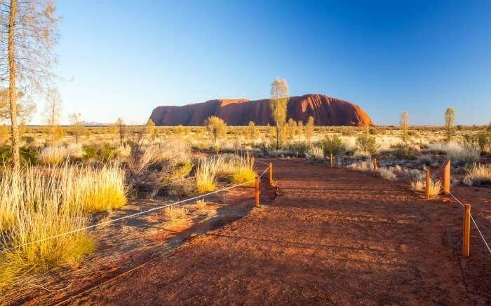 Dome-like rock formation in Uluru
