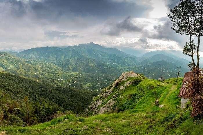 View from Chauli Ki Jali in Mukteshwar