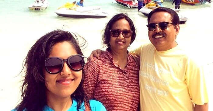 Alok with his family on a holiday in Thailand