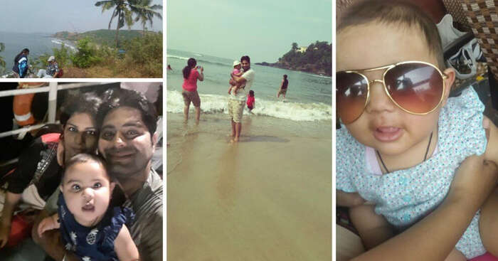 Chirag with his family on a trip to Goa