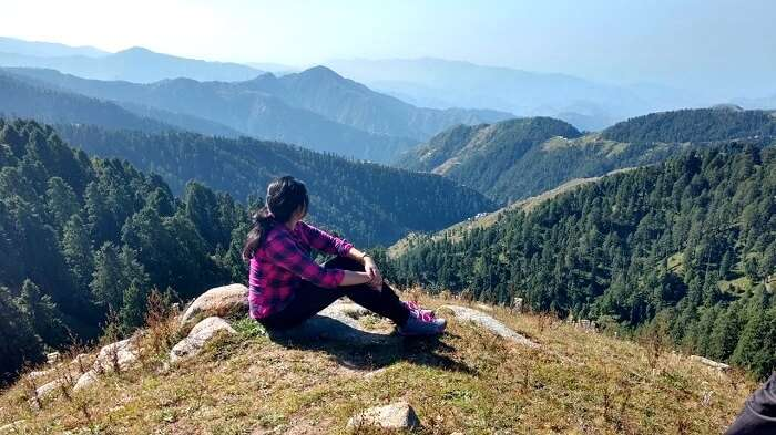 Rupanshi looking at the hills