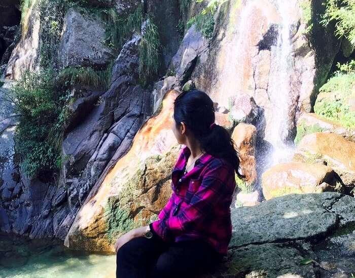 Waterfall of hills