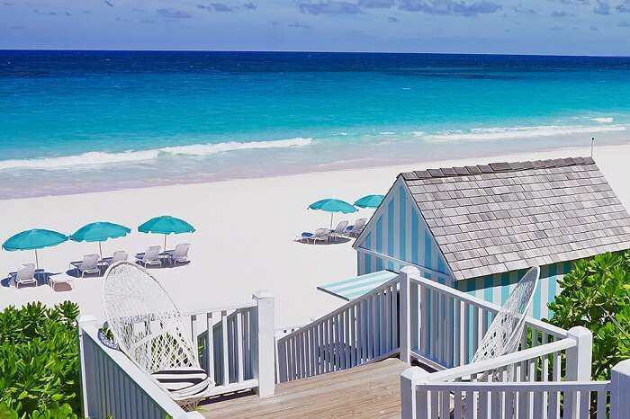 A snap of the Dunmore Beach at the Harbour Island in Bahamas