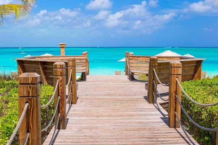 Beautiful tropical landscape on Providenciales Island in the Turks and Caicos
