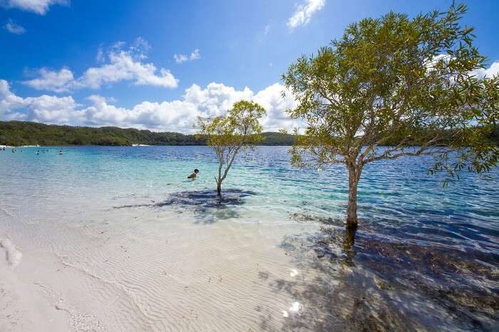 Secluded lake at Fraser Island