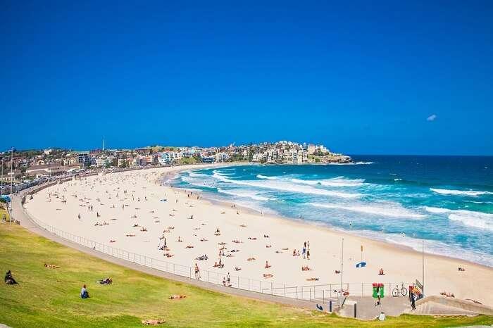 Panoramic view at Bondi Beach
