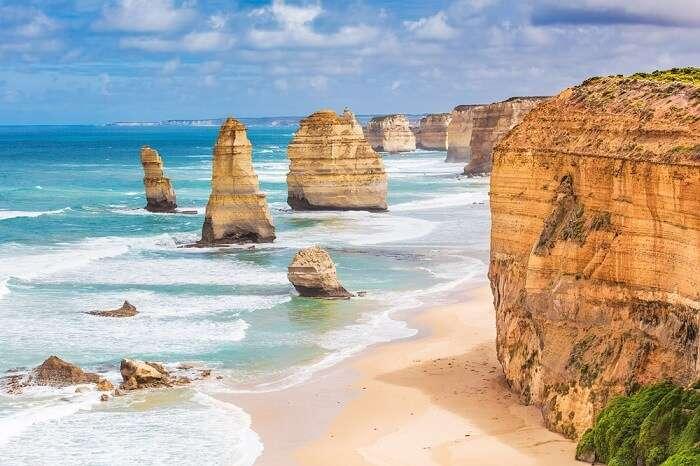 Beautiful coastline in Australia