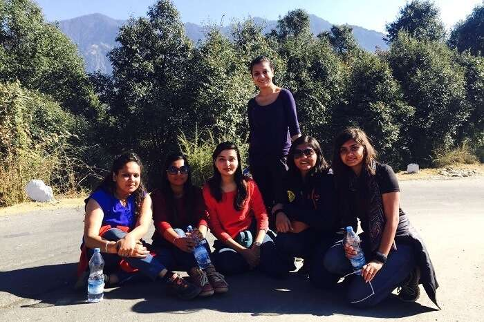 All girls get a picture clicked together during a trip