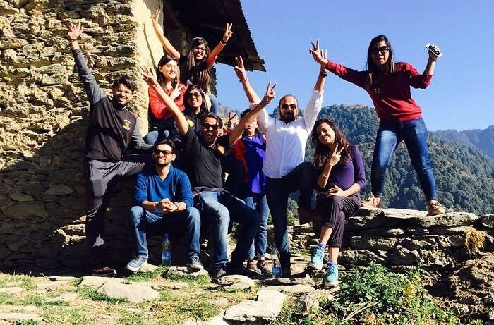 A group gets their picture clicked on a trip