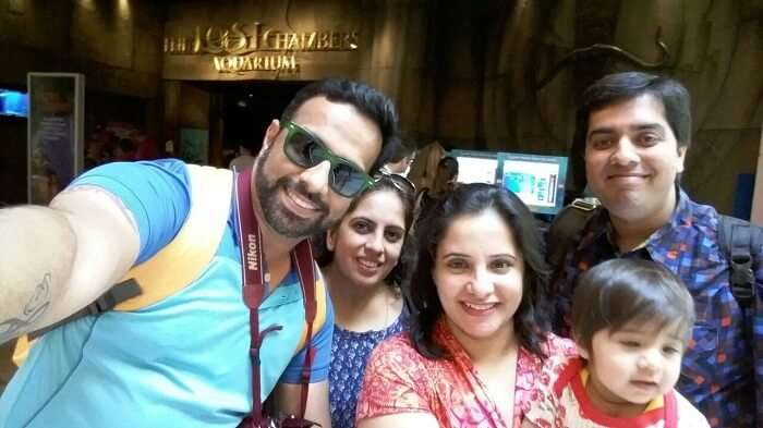 Family travels together to Dubai