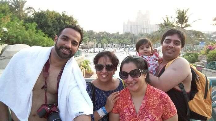 family enjoying watersports at Dubai Atlantis