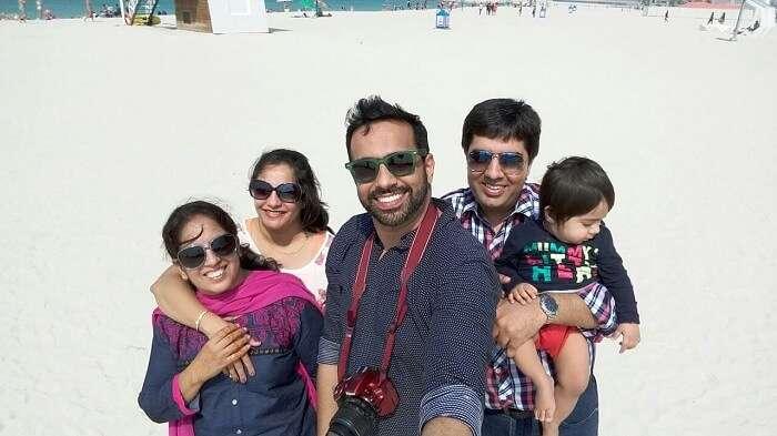 family traveling to Dubai