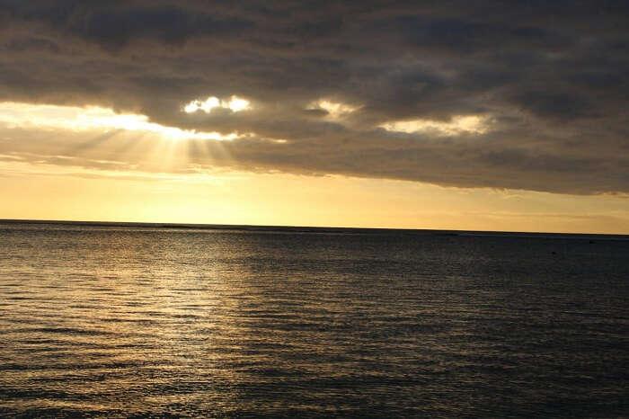 Sunset views at the beach