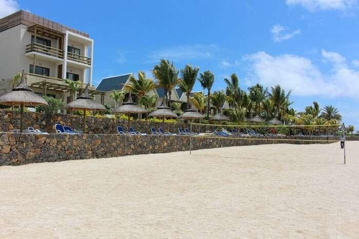 white sandy beach in Mauritius