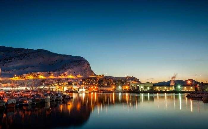 View of Hammerfest in Norway