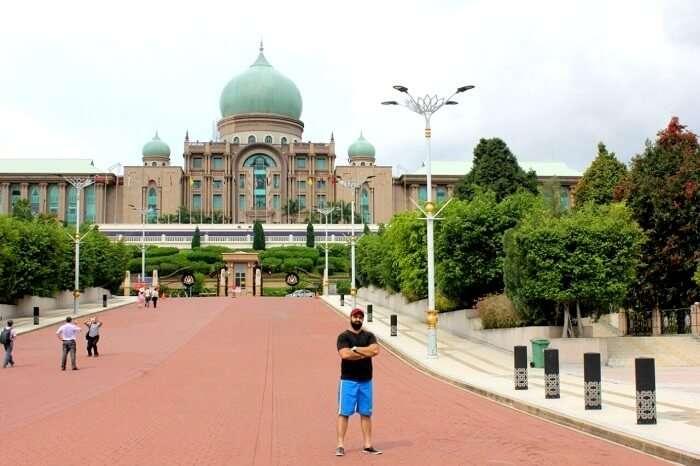 Striking a pose in Singapore