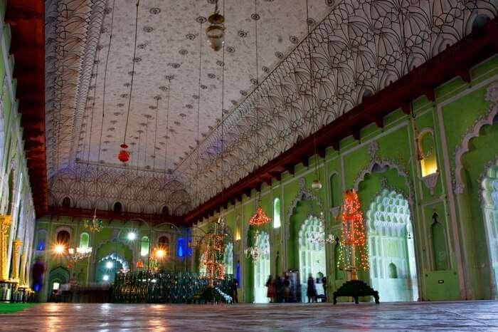 Interiors of Bara Imambara in Lucknow