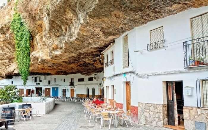 Sitting area in Setenil de las Bodegas