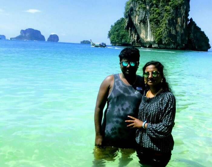 Jegen and his wife in Phuket