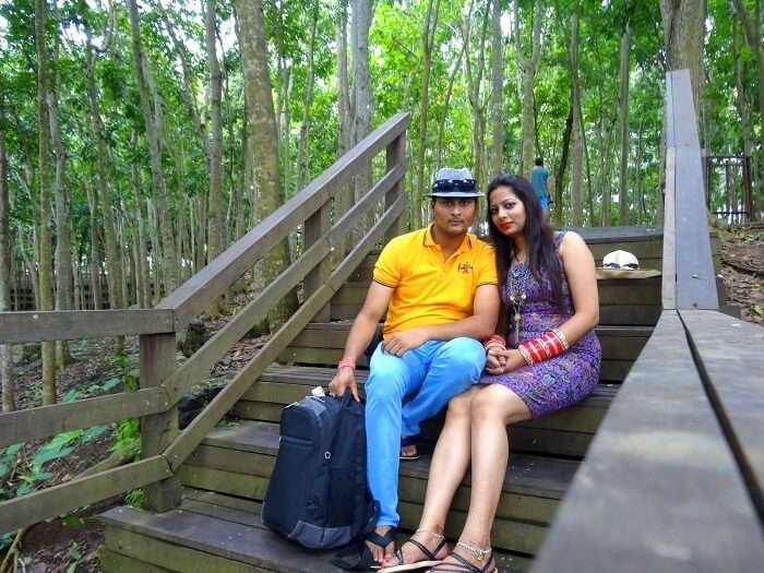Suraj and his wife take a tour in Bali