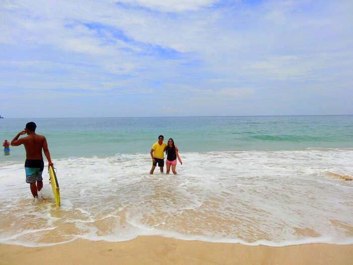 Suraj at the Dreamland beach in Bali