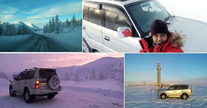 Indian woman travels to the coldest inhabited place on the earth