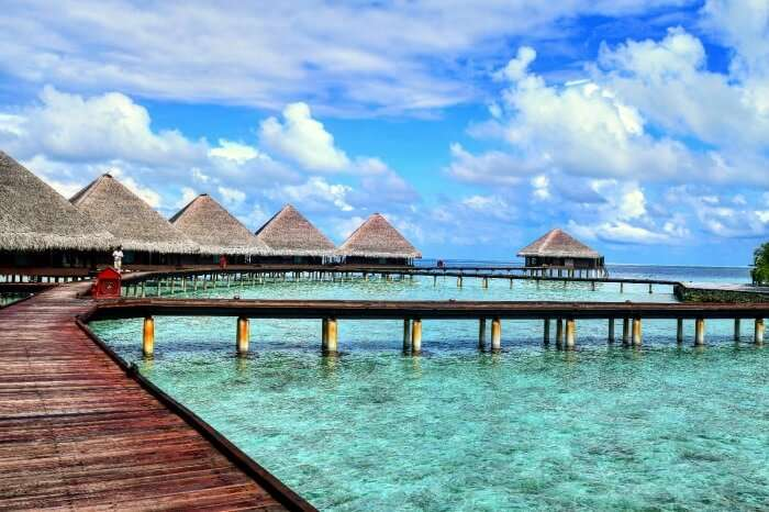 kishor & wife's resort in maldives with water villas