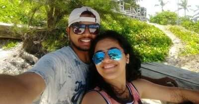 Sourabh taking a selfie during a honeymoon trip to Mauritius