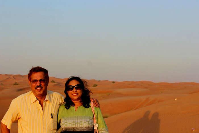 Enjoying the Desert Safari tour