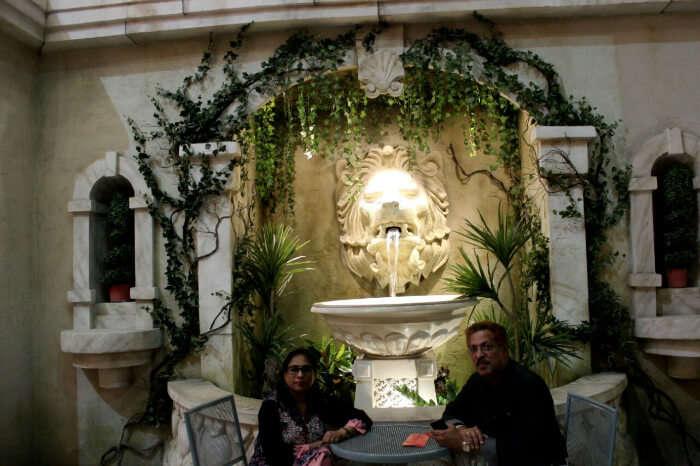 Dining at a restaurant in Dubai