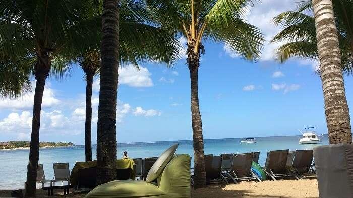 Beach Hotel View in Mauritius